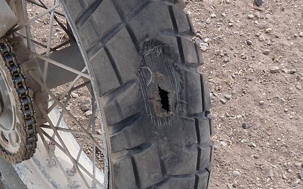 Hole Motorcycle Tire
