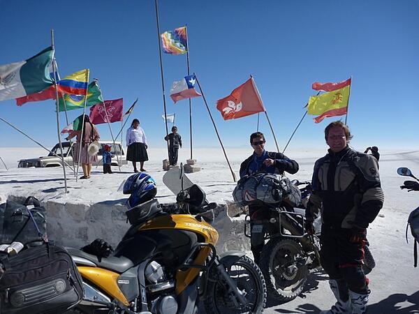 Uyuni Salt Flats by motorcycle