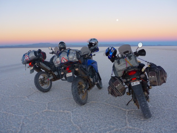 Motorcycle Uyuni Salt Flats