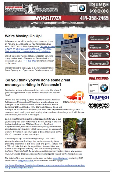 Schlossmann Newsletter BMW