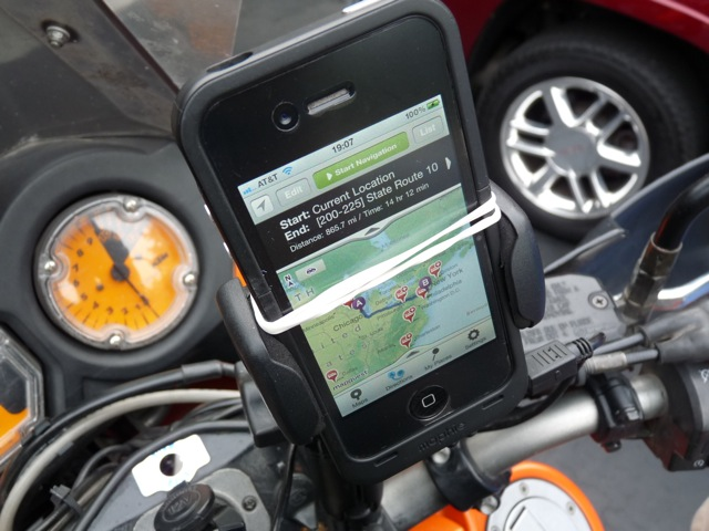 iPhone GPS for Motorcycle
