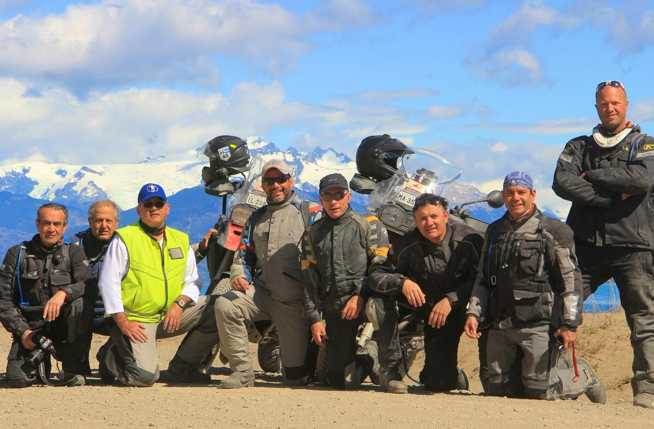 Riders overlooking Lago General Carrera