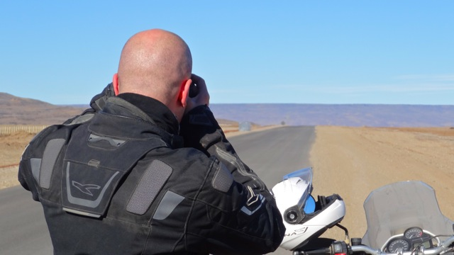 Rider on the Ruta 40 in Argentina