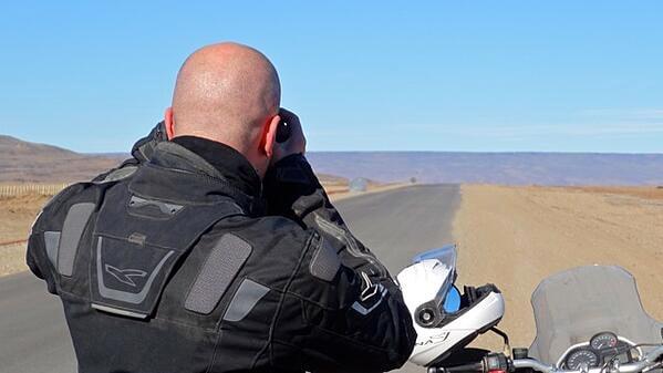 Ruta 40 Motorcycle Rider Argentina Patagonia