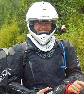 Helmet Camera in Patagonia