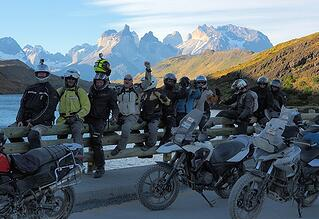 Motorcycle Riders in Torres del Paine National Park