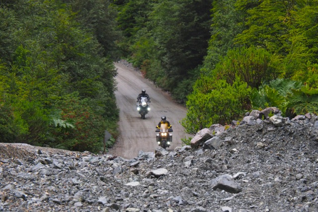 Motorcycle Riders on the Carretera Austral in Chile