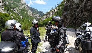 Entering Montenegro Motorcycles