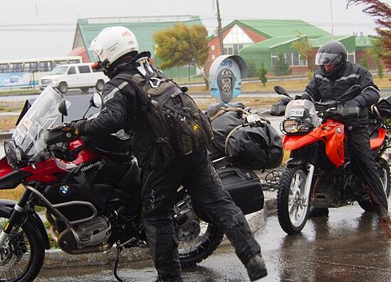 Orlieb Motorcycle Luggage in Patagonia