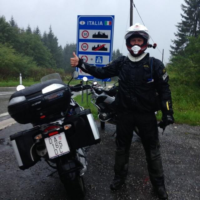 Entering Italy Alps Moto