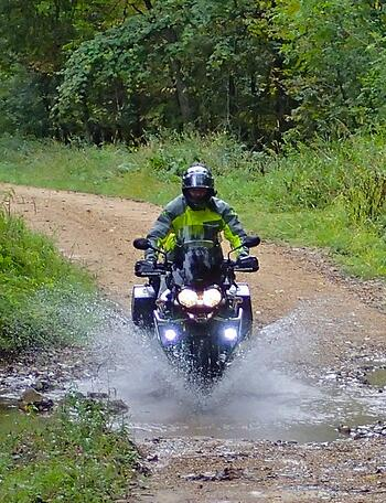 Riding Puddles Motorcycle