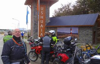 Ushuaia Entrance Photo Motorcycles