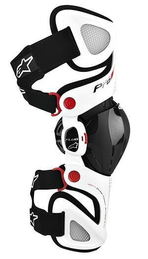 Alpinestars Fluid Pro Motorcycle Knee Brace White