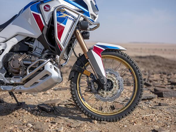 2020 Honda Africa Twin details on front end