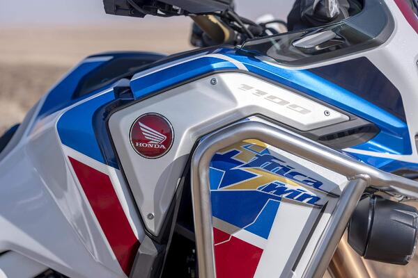 Close up of the Honda Emblem on the 2020 Africa Twin.