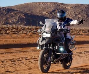 BMW R1200GS Adventure in sand