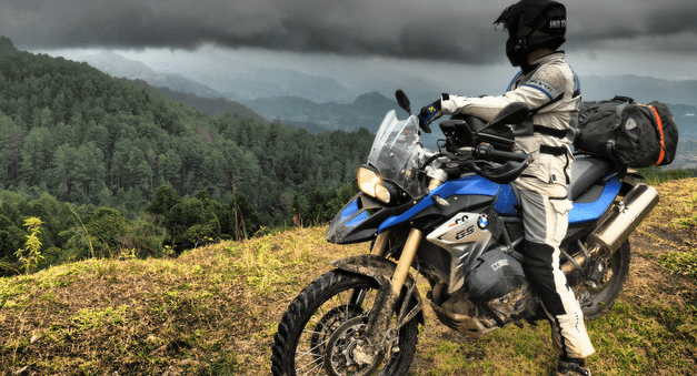 riding BMW's in Colombia