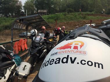 Ferry Motorcycle Crossing Thailand