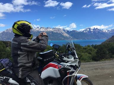 Honda Africa Twin Adventure Bike and Mountains