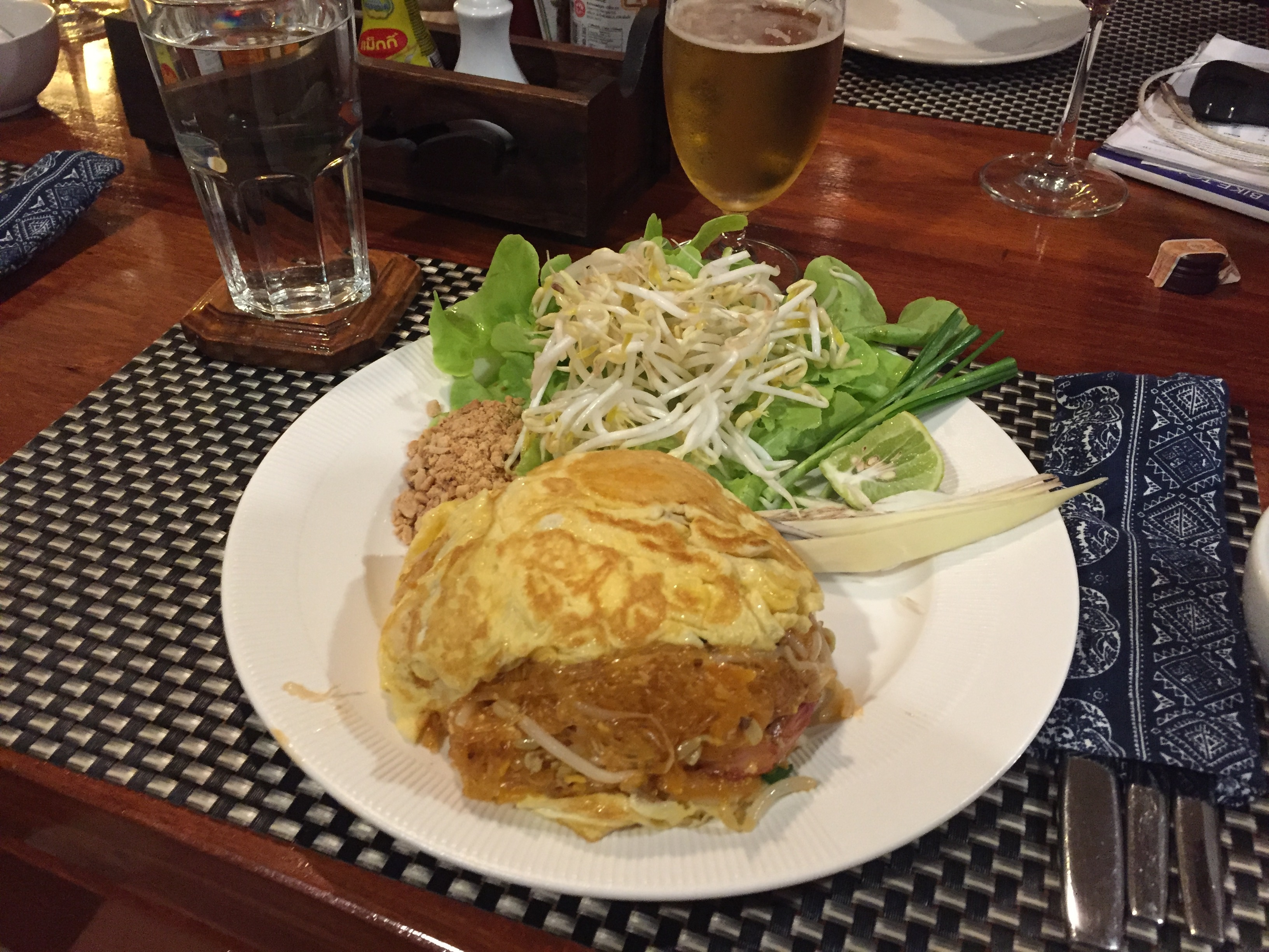 One of the best meals on the road, the Pad Thai Omlette