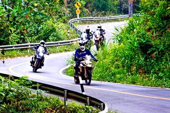 Motorcycles on Mae Hong Son Loop