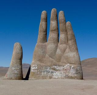 Hand of the Atacama Desert in Chile