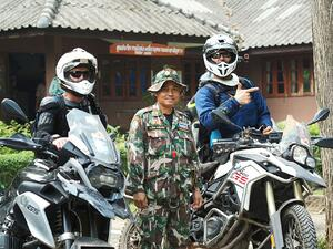 Klim Krios helmet on the right in Thailand