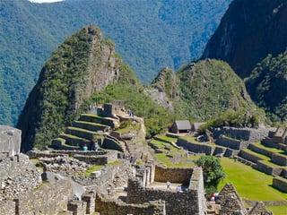 Condor backdrop Machu Picchu Peru