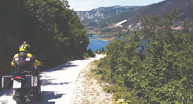 Balkans of Europe Motorcycle Trip by Lake