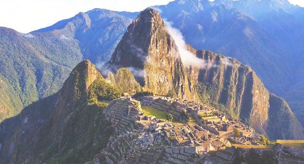 Machu Picchu Backdrop in Peru