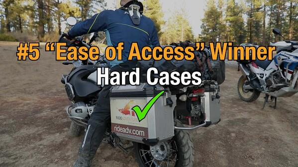 Hard motorcycle cases win category five