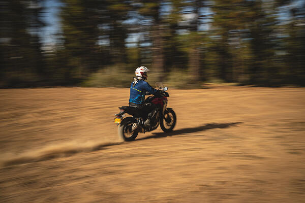 honda cb500x speeding through the Oregon backcountry