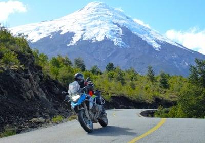 motorcycle riding on a patagonia tour