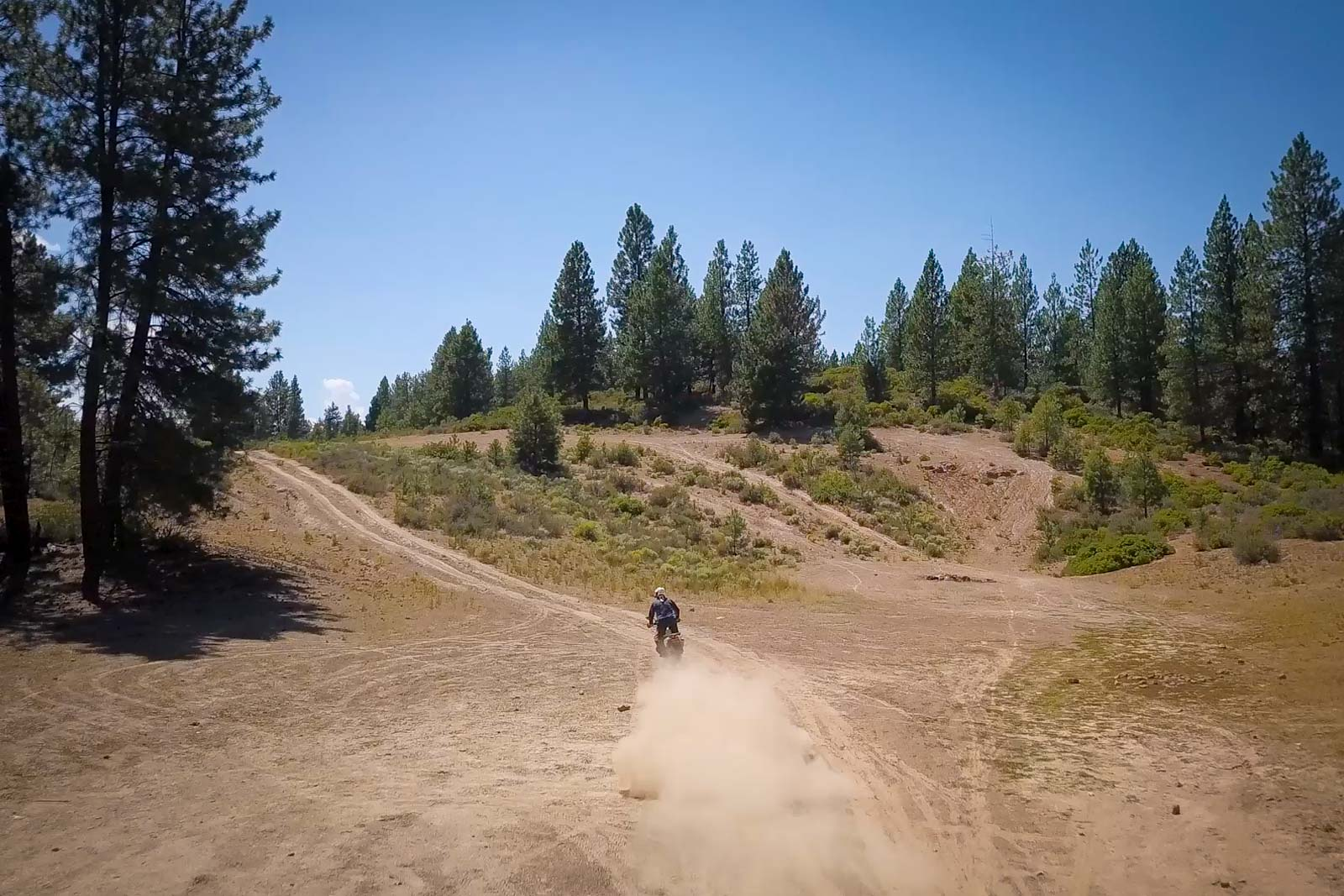 Eric rippin' the trails on the KTM 790 Adventure S in Oregon's backcountry