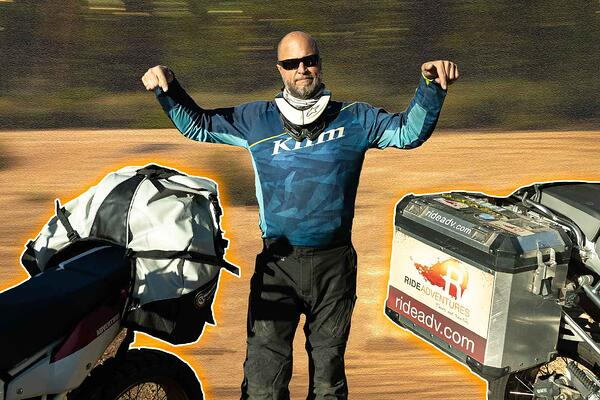 Eric from RIDE Adventures giving you the choice between soft motorcycle bags and hard motorcycle cases.