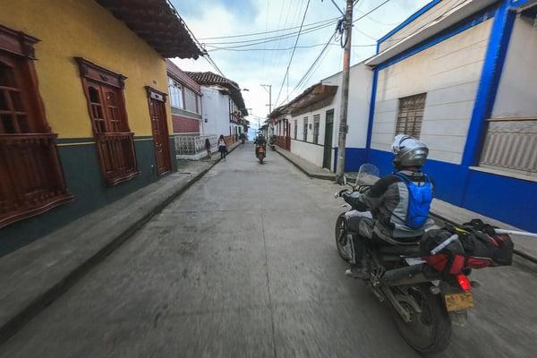 Riding through Salamina Colombia