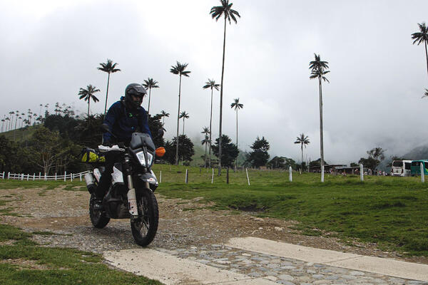 Riding through Cacora Valley, Colombia