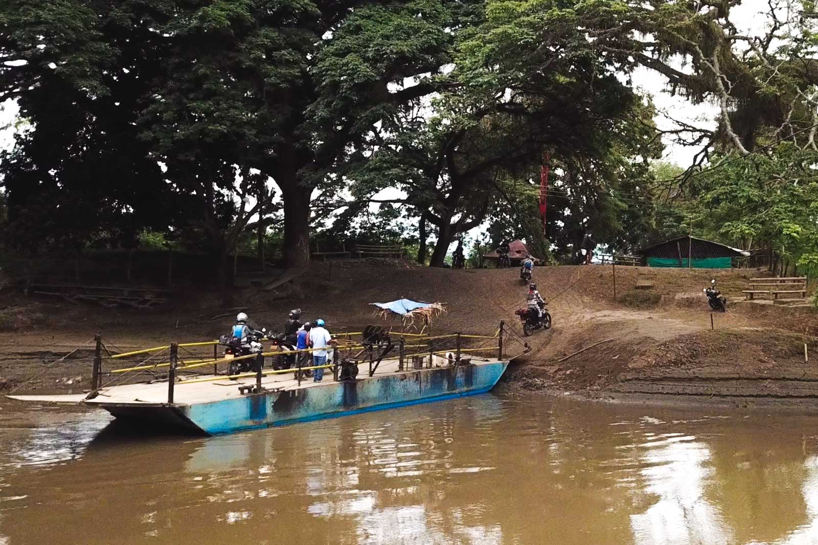 Ferry Crossing Motorcycling Colombia