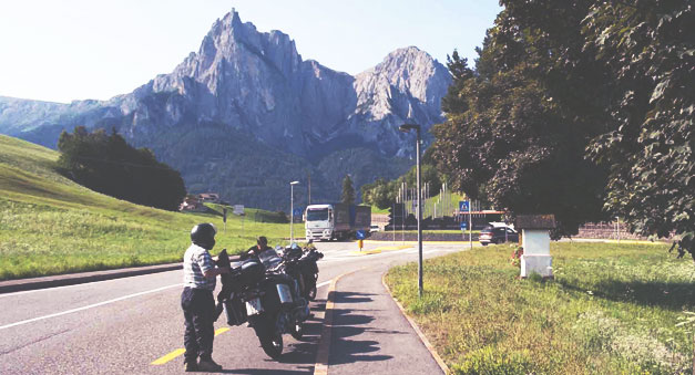Alps motorcycle rider tour